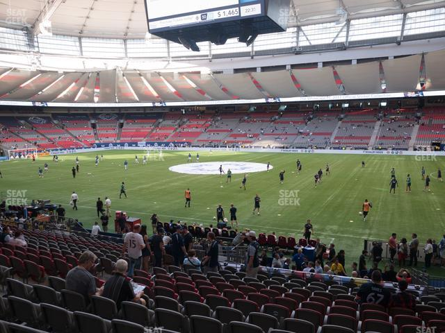 BC Place Stadium Section 212 view
