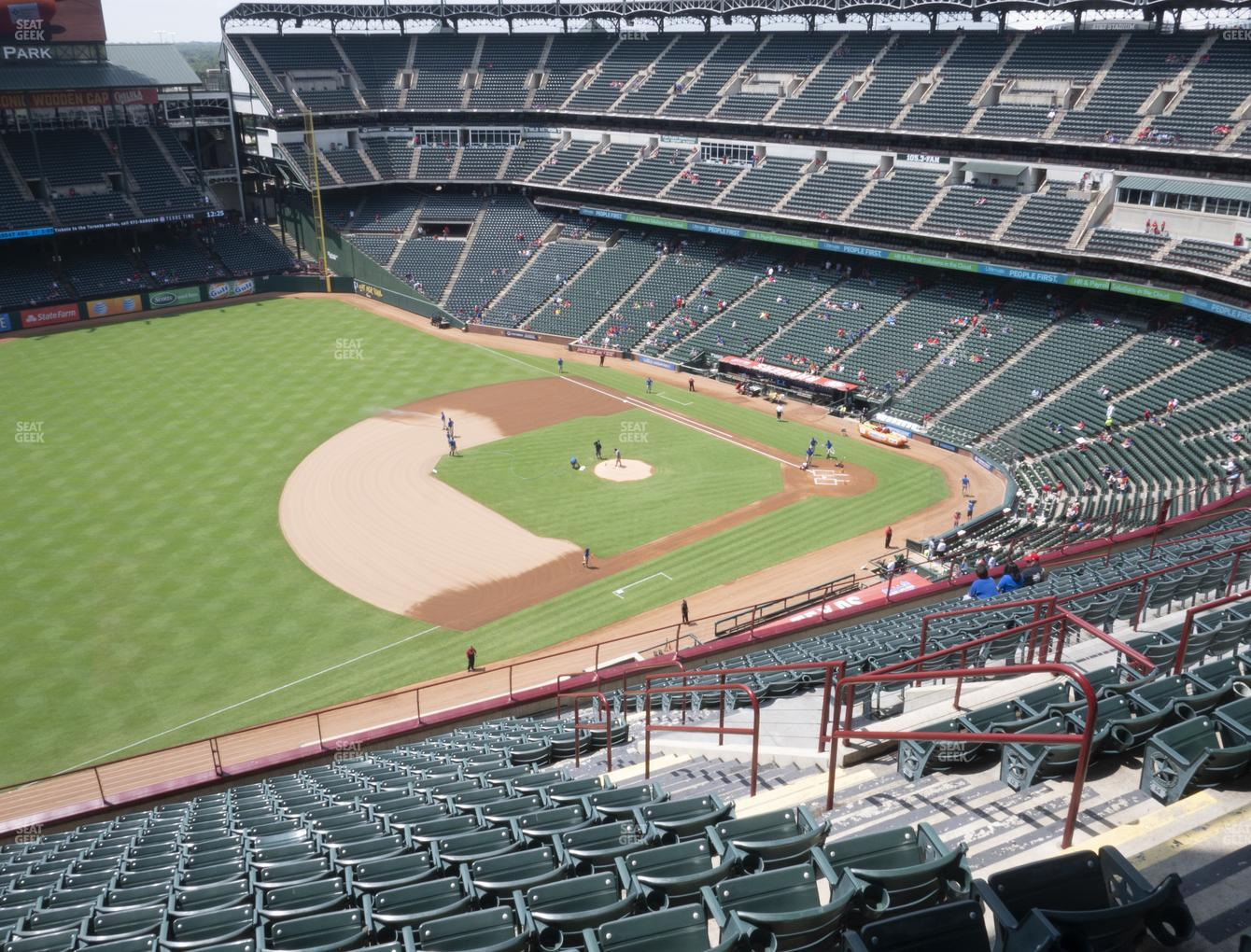 Texas Rangers at Globe Life Park Section 315 View