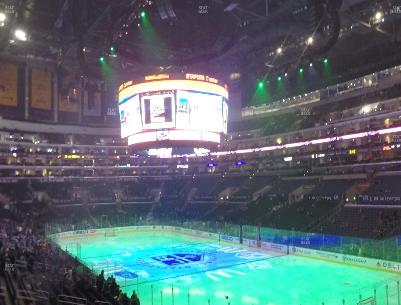Los Angeles Kings at Staples Center Section 219 View