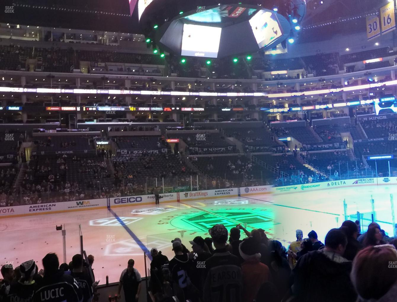 Los Angeles Kings at Staples Center Section 102 View
