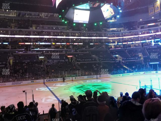 Staples Center Section 102 view