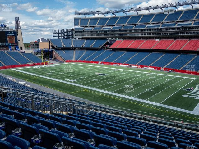 Gillette Stadium Section 227 view