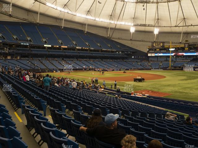 Tropicana Field Section 130 view