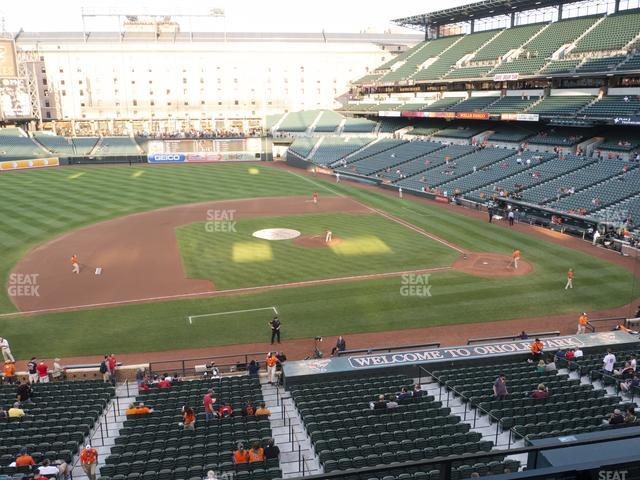 Oriole Park at Camden Yards Section 250 view