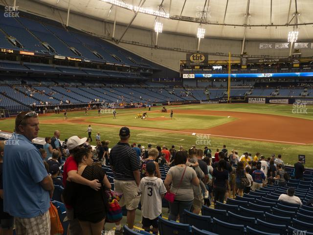 Tropicana Field Section 122 view