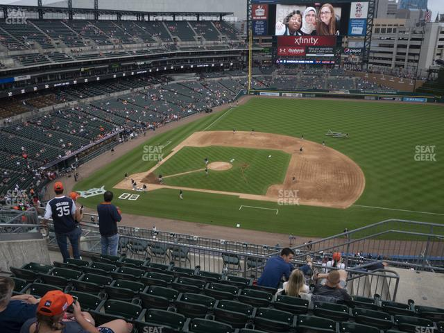 Comerica Park Section 321 view