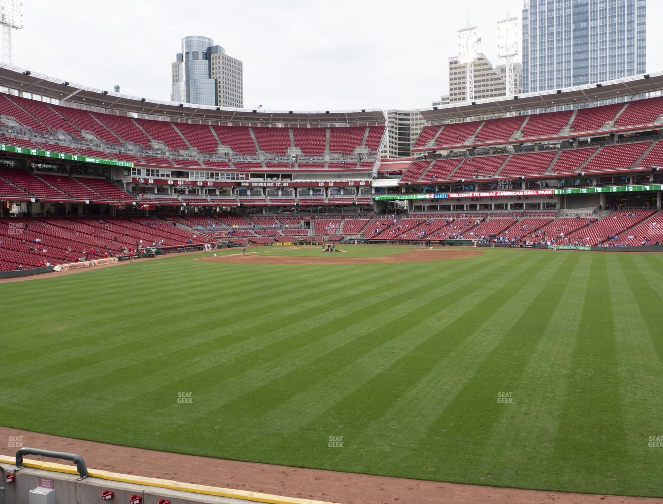 Cincinnati Reds at Great American Ball Park Section 144 View
