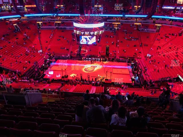 American Airlines Arena Section 324 view