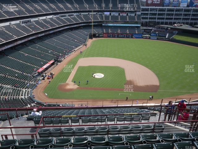 Globe Life Park Section 332 view
