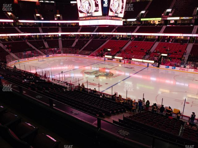 Canadian Tire Centre Section 220 view