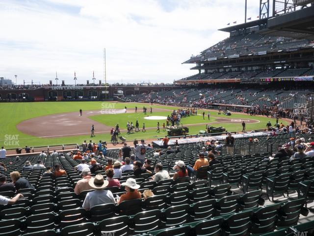 Oracle Park Section 125 view