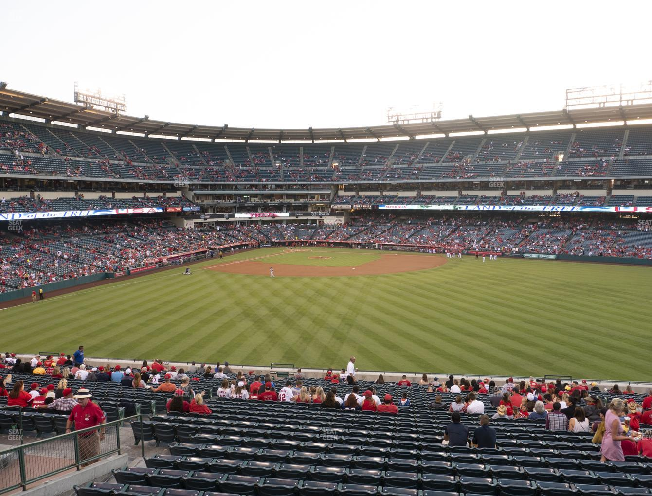 Los Angeles Angels at Angel Stadium of Anaheim Section 247 View