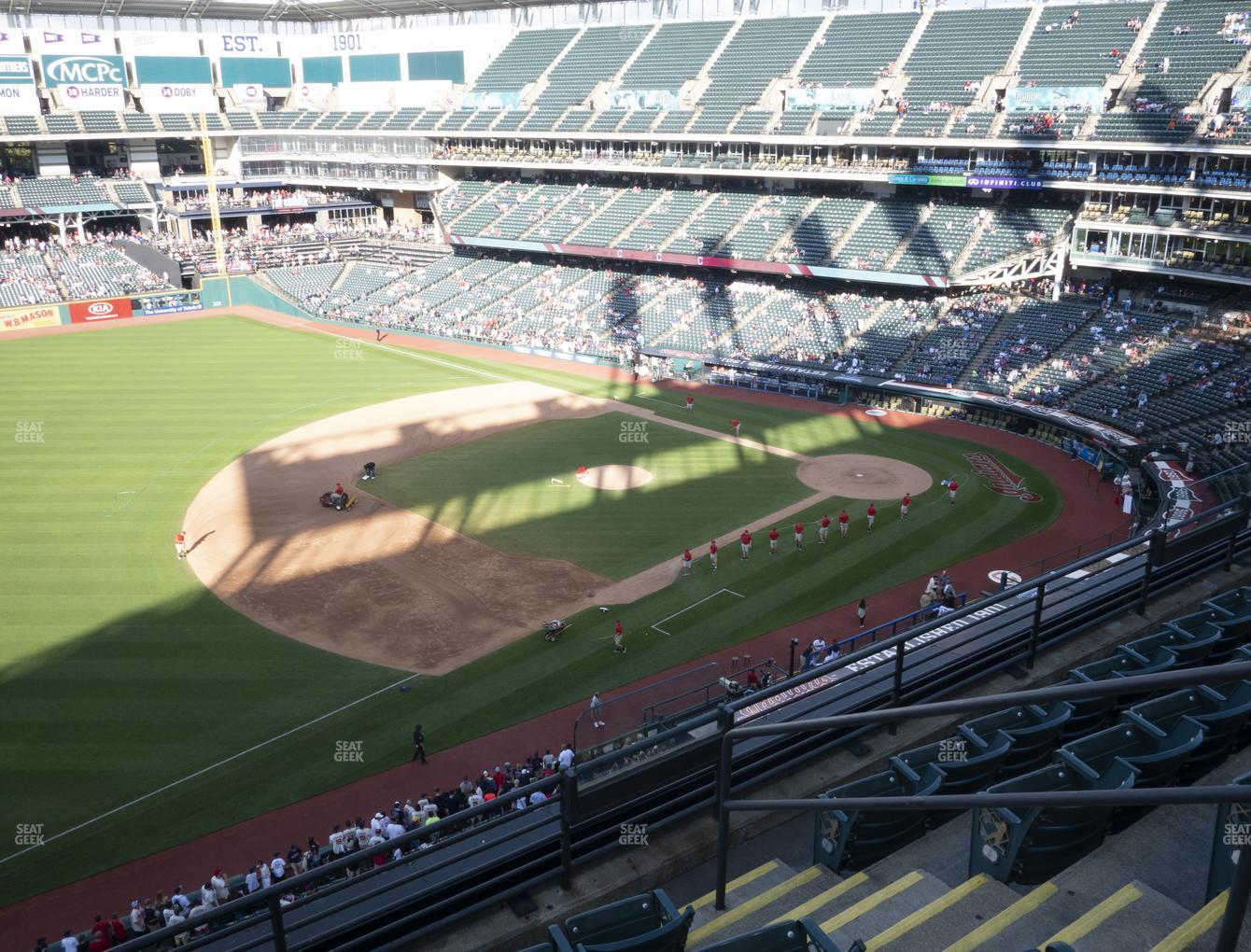 Cleveland Indians at Progressive Field Section 470 View