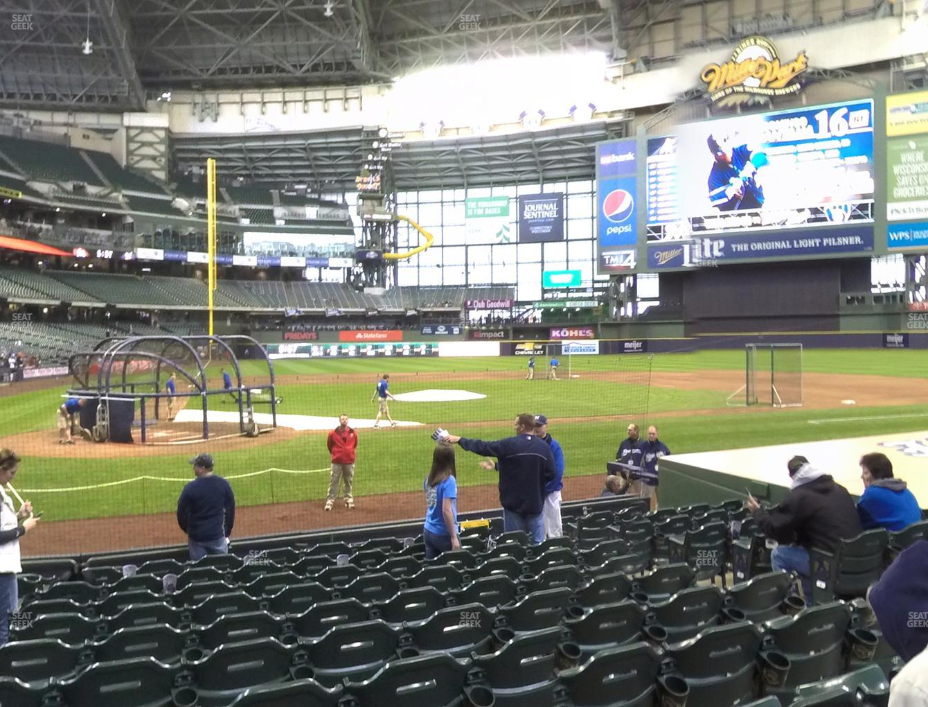 Milwaukee Brewers at Miller Park Section 115 View