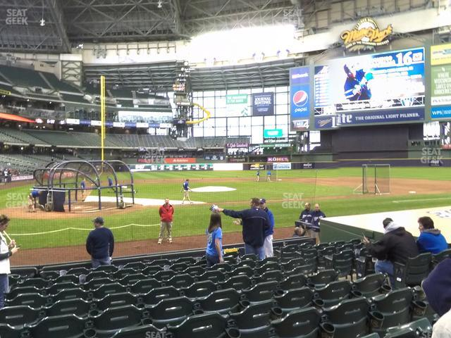 Miller Park Section 115 view