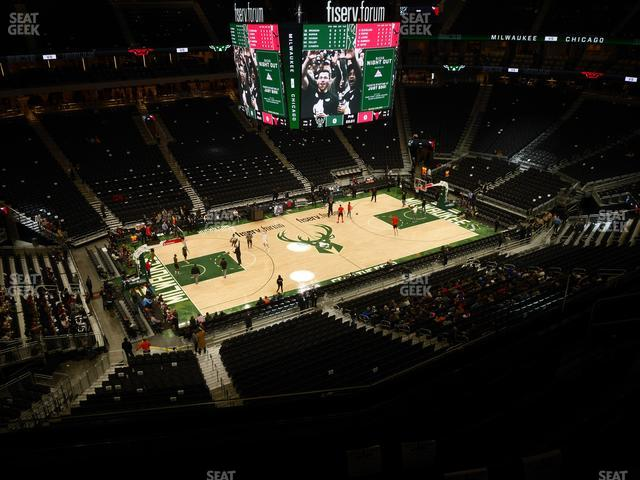 Fiserv Forum Section 210 view