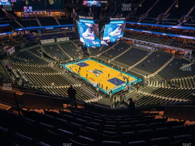 Spectrum Center Section 204 view