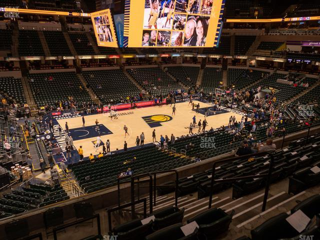 Bankers Life Fieldhouse Section 119 view