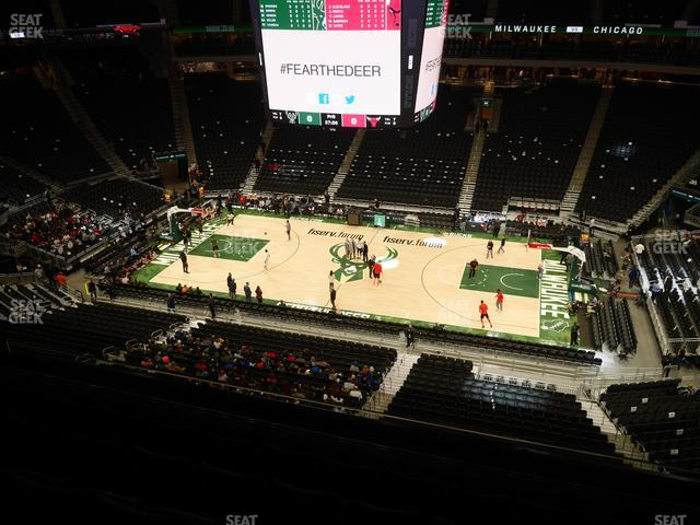 Fiserv Forum Section 207 view