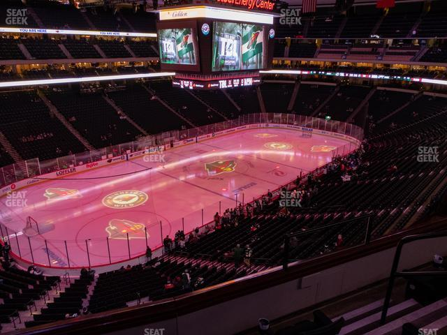 Xcel Energy Center Section Club 31 view