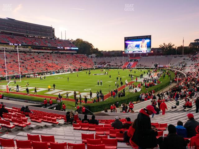 Sanford Stadium Section 115 view