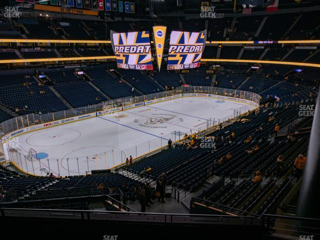 Bridgestone Arena Section 322 view