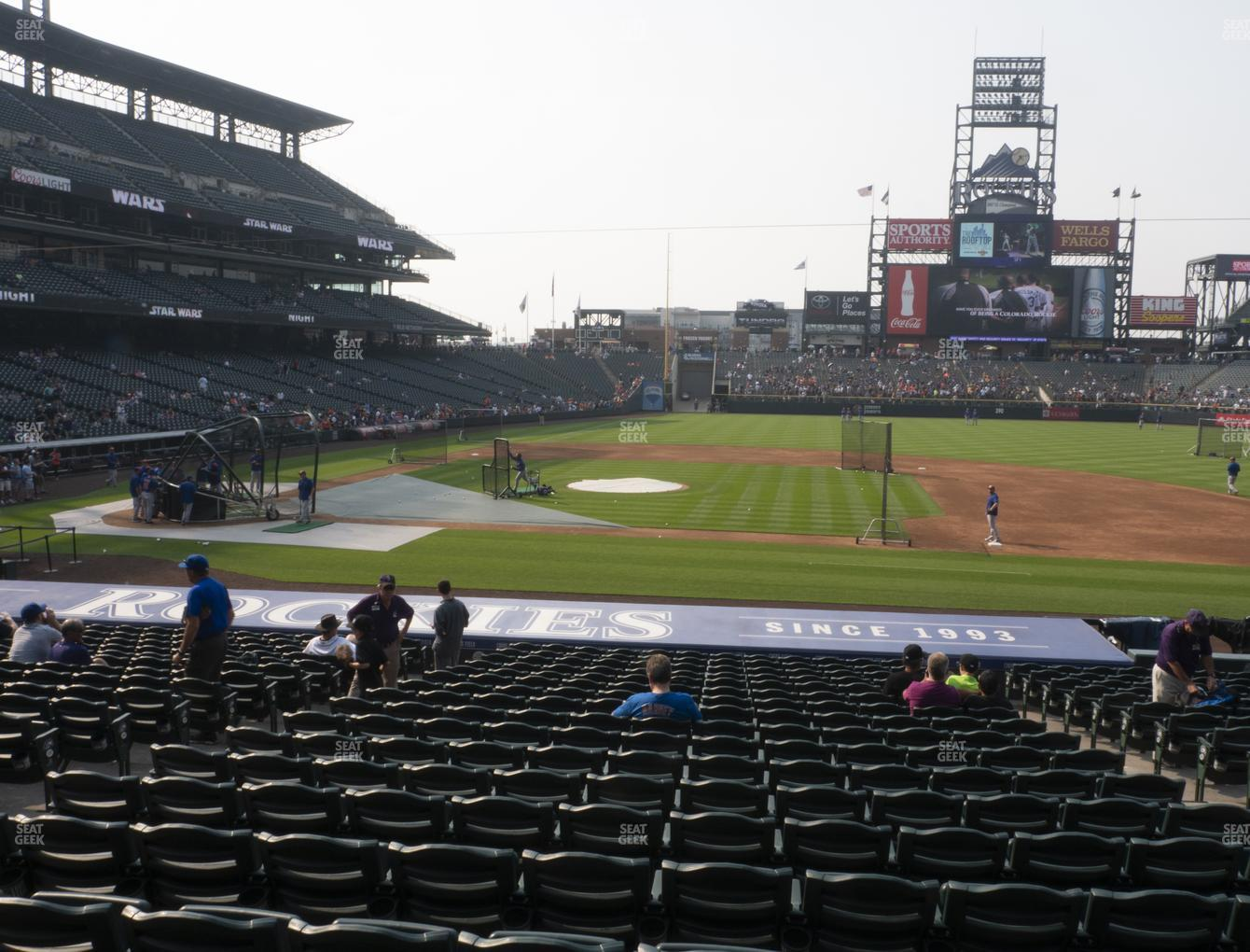 Colorado Rockies at Coors Field Section 123 View