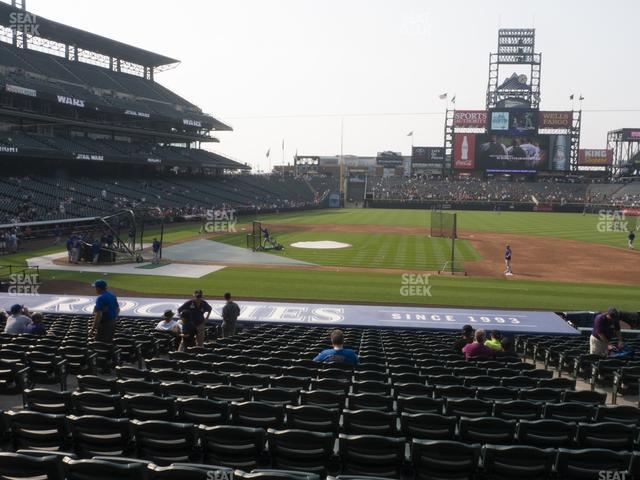 Coors Field Section 123 view