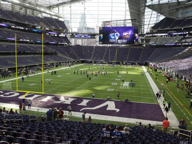 U.S. Bank Stadium Section 118 view