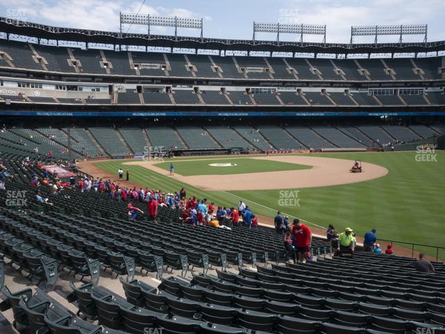Globe Life Park Section 40 view