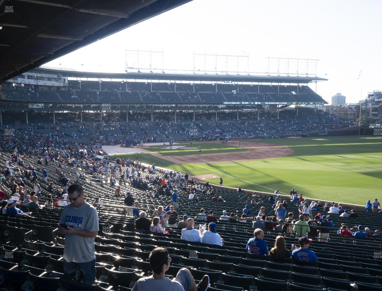 Chicago Cubs at Wrigley Field Section 231 View