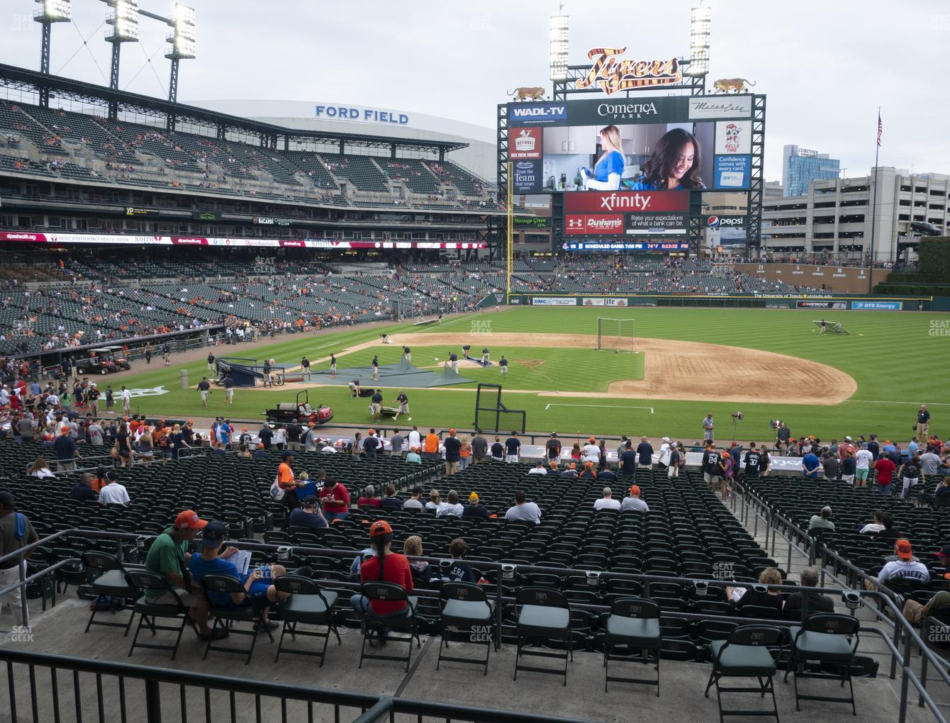 Detroit Tigers at Comerica Park Section 121 View