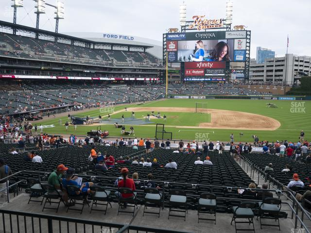 Comerica Park Section 121 view