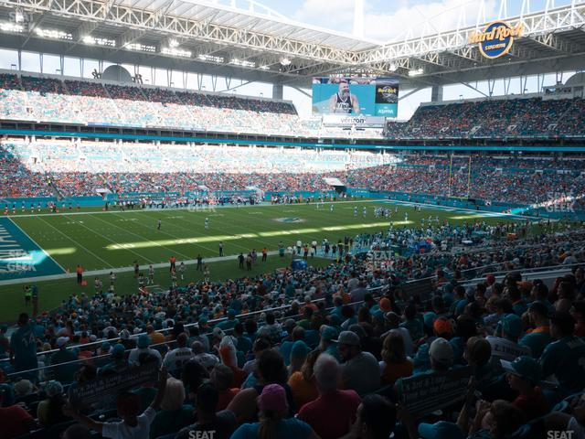Hard Rock Stadium Section 250 view