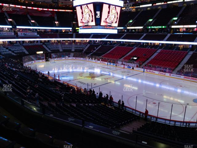 Canadian Tire Centre Section 205 view