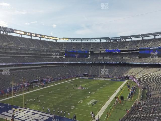 MetLife Stadium Section 222 A view