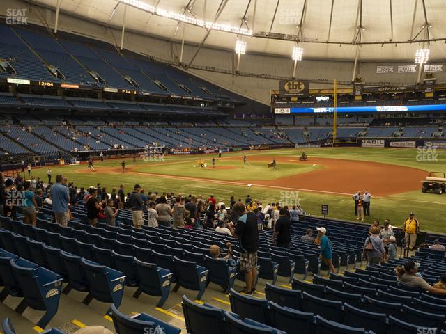 Tropicana Field Section 124 view