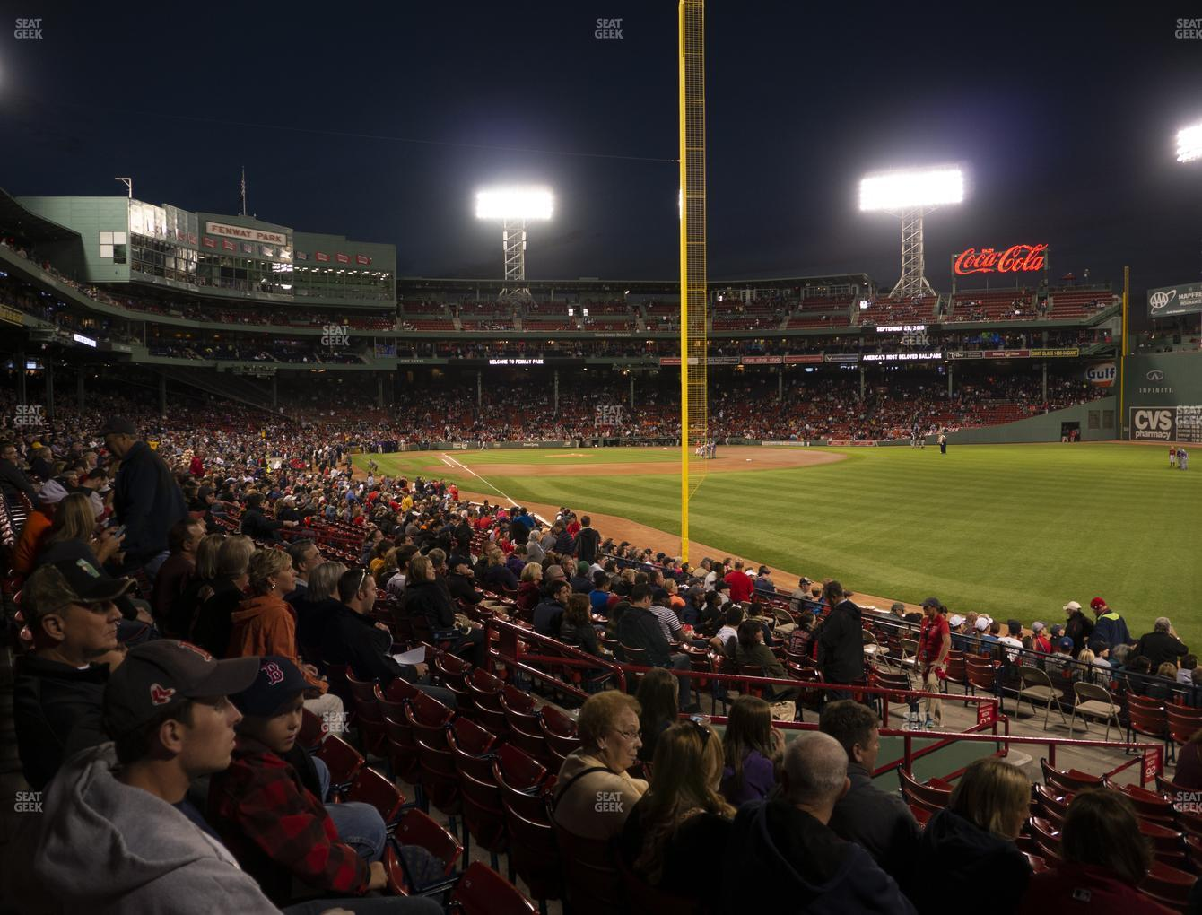 Boston Red Sox at Fenway Park Right Field Box 92 View