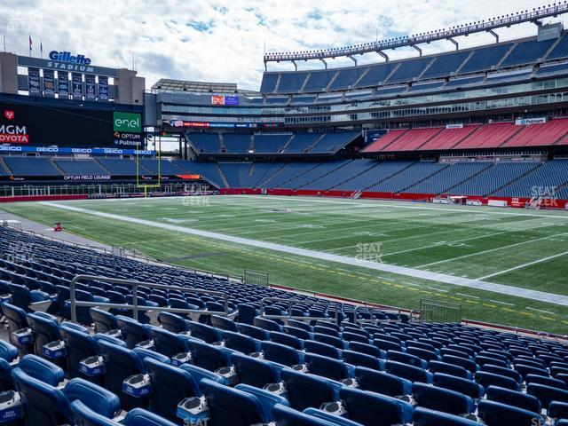 Gillette Stadium Section 104 view