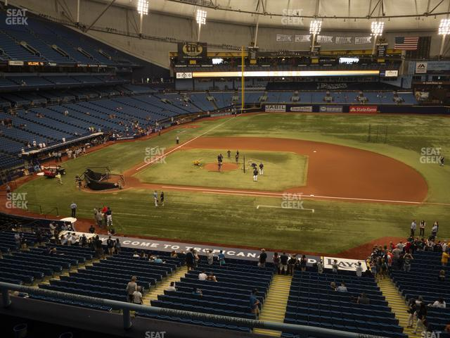 Tropicana Field Section 212 view