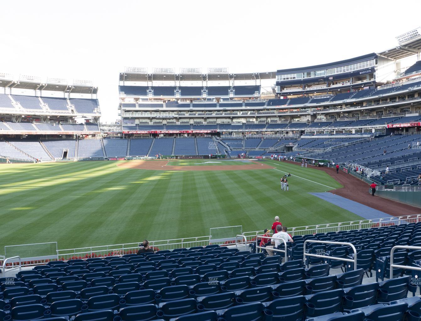 Washington Nationals at Nationals Park Section 104 View