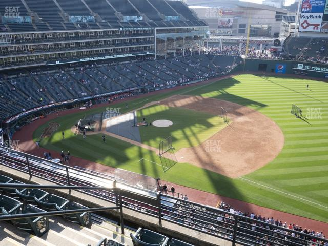 Progressive Field Section 436 view