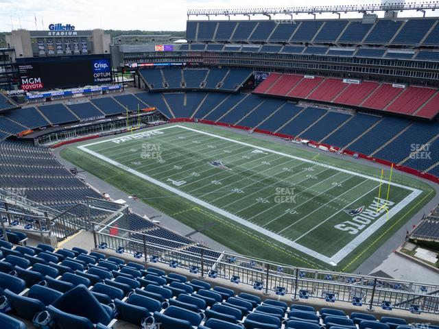 Gillette Stadium Section 303 view