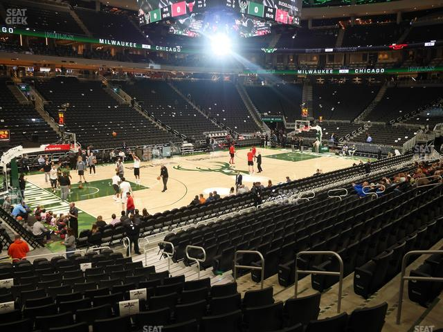 Fiserv Forum Section 108 view