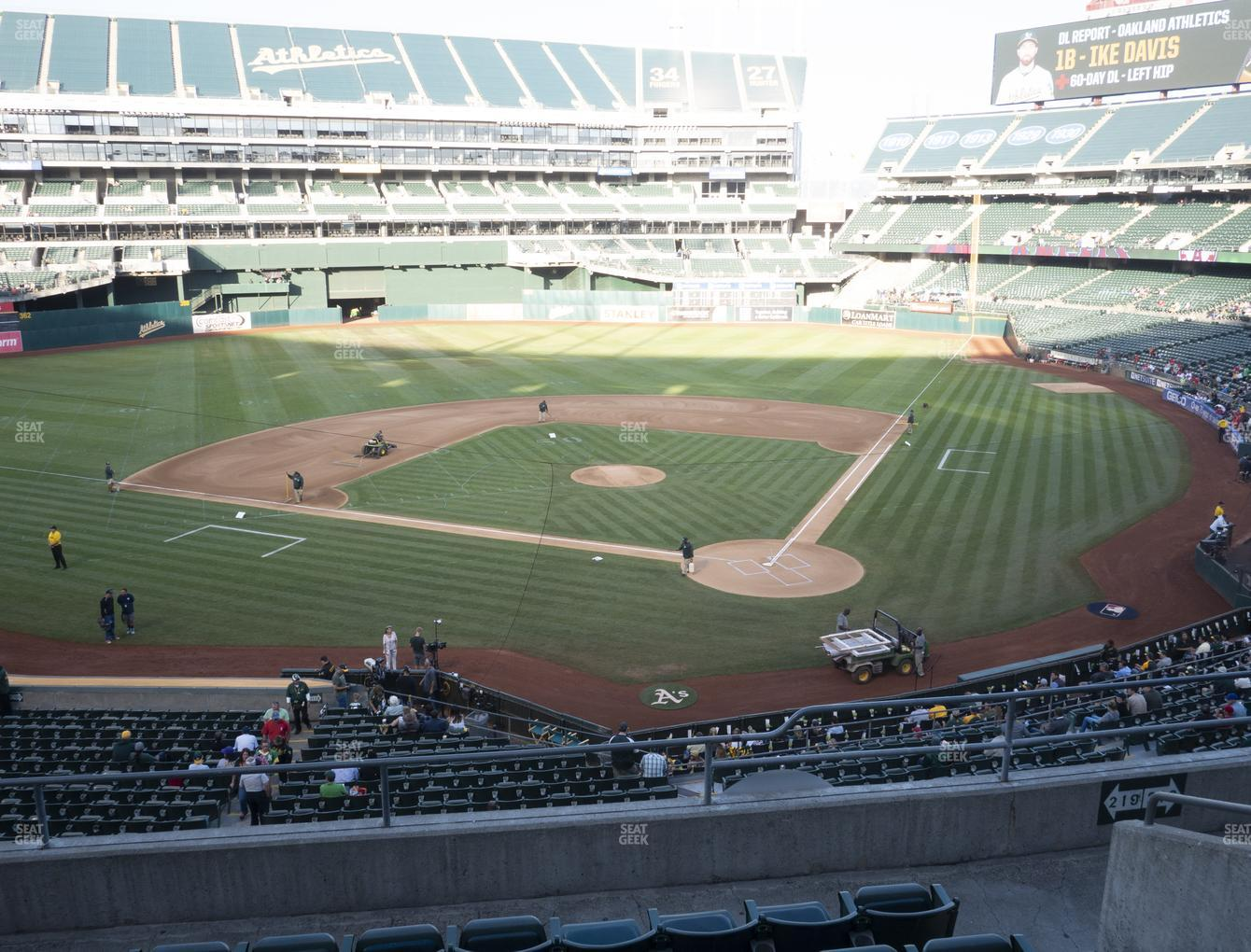 Oakland Athletics at Oakland-Alameda County Coliseum Section 219 View