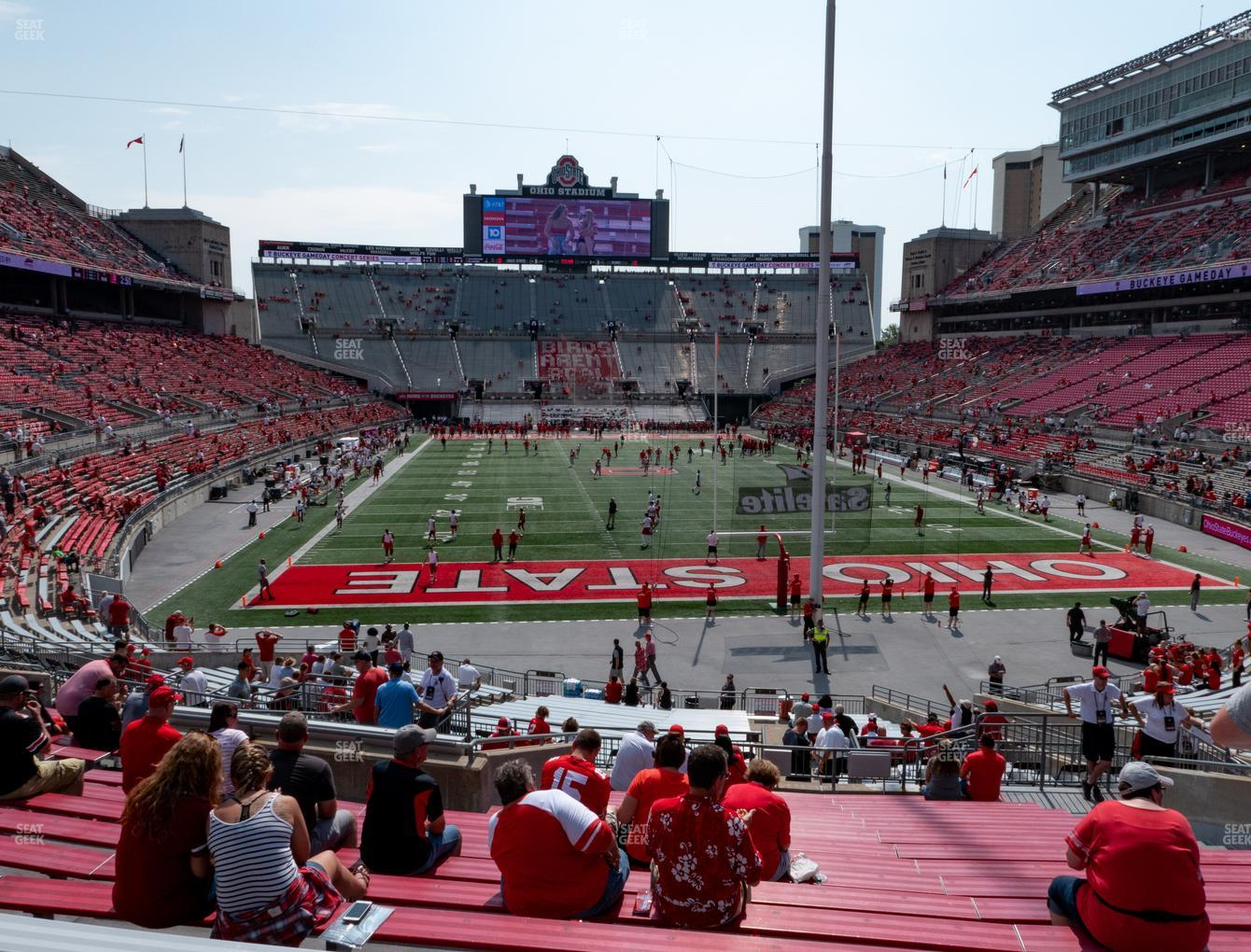 Ohio State Buckeyes Football at Ohio Stadium Section 4 A View