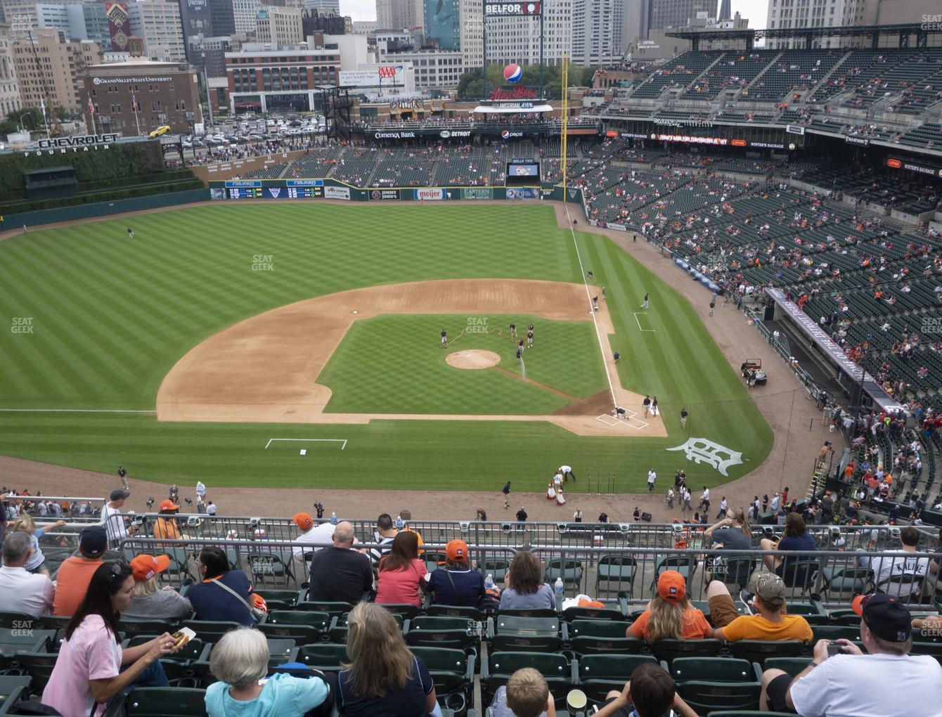 Detroit Tigers at Comerica Park Section 332 View