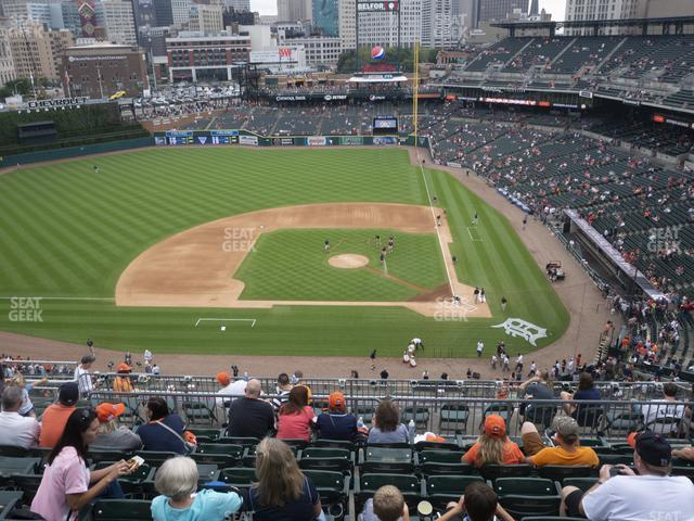 Comerica Park Section 332 view