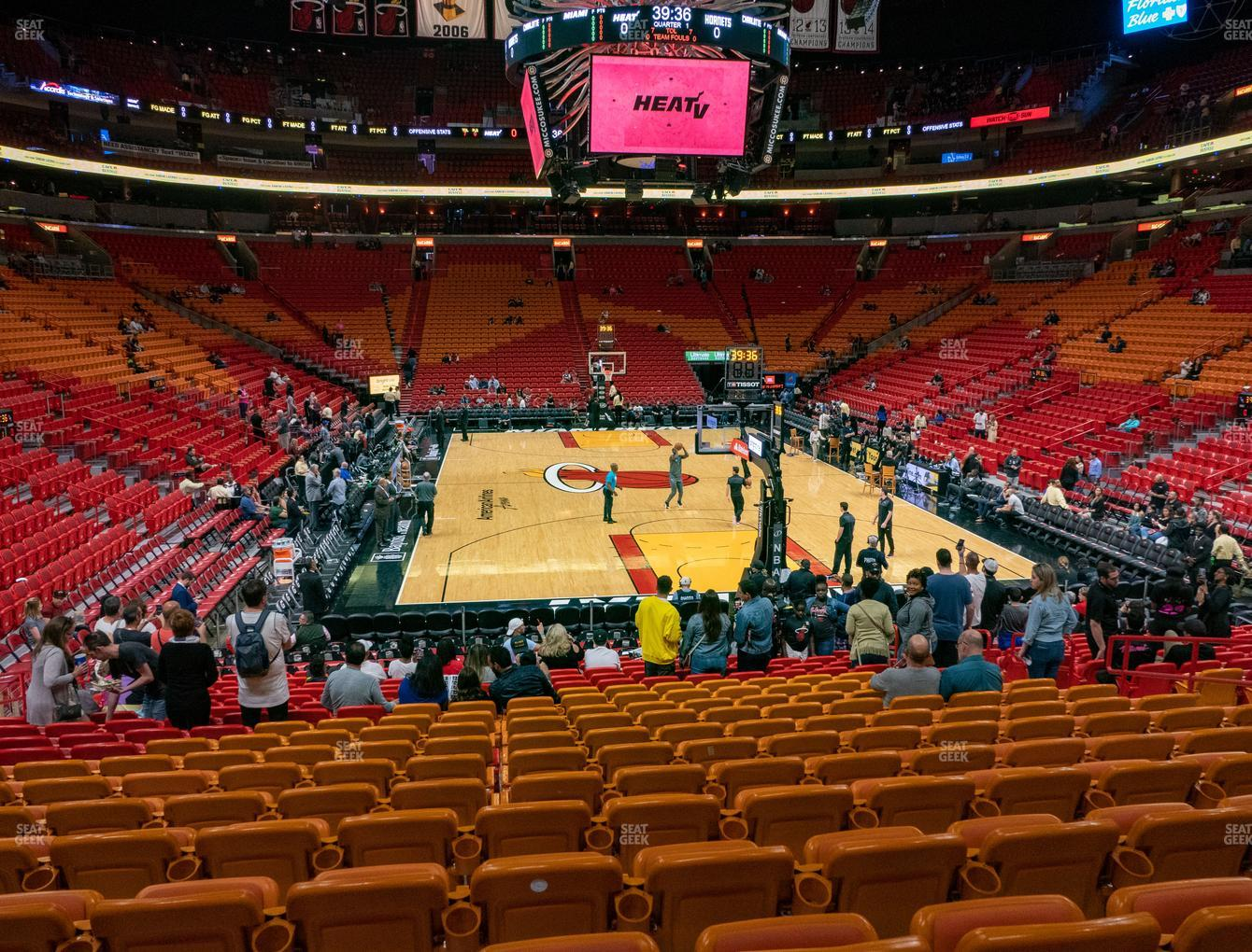 american airlines arena section 101 seat views   seatgeek