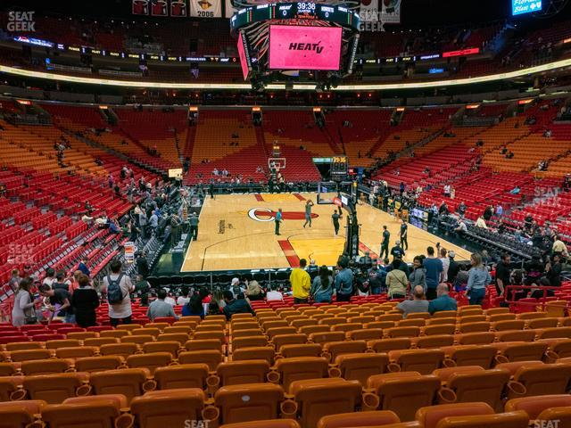American Airlines Arena Section 101 view